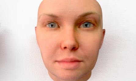 3D face mask of former US soldier Chelsea Manning, created by Heather Dewey-Hagborg via DNA phenotyping.