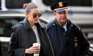Gigi Hadid arrives at Manhattan criminal court in New York, New York, on 16 January.