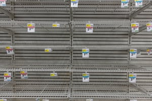 Many grocery stores were empty the night the Los Angeles mayor, Eric Garcetti, announced an emergency action to close down the city.
