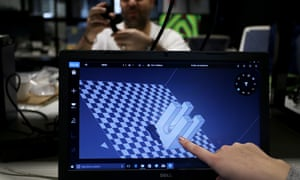 Researchers at the University of NSW working on 3D printing. Fields including robotics, 3D printing, and quantum computing will be under increasing pressure as the US and China face off.