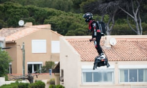 Franky Zapata on the Flyboard Air.
