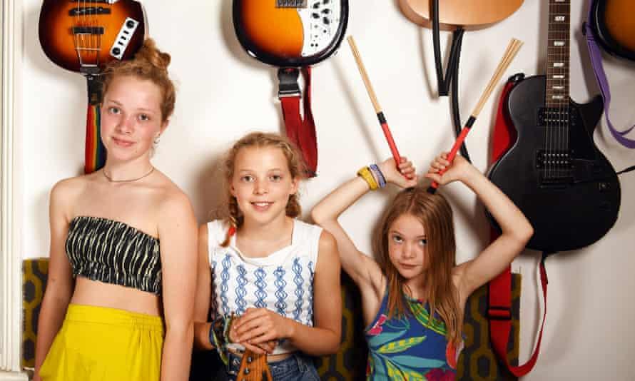 The Honey Hahs, from left to right: Rowan, Robin and Sylvie.