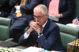 The Prime Minister Malcolm Turnbull during question time