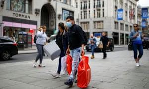 Shoppers on Oxford Street, London.