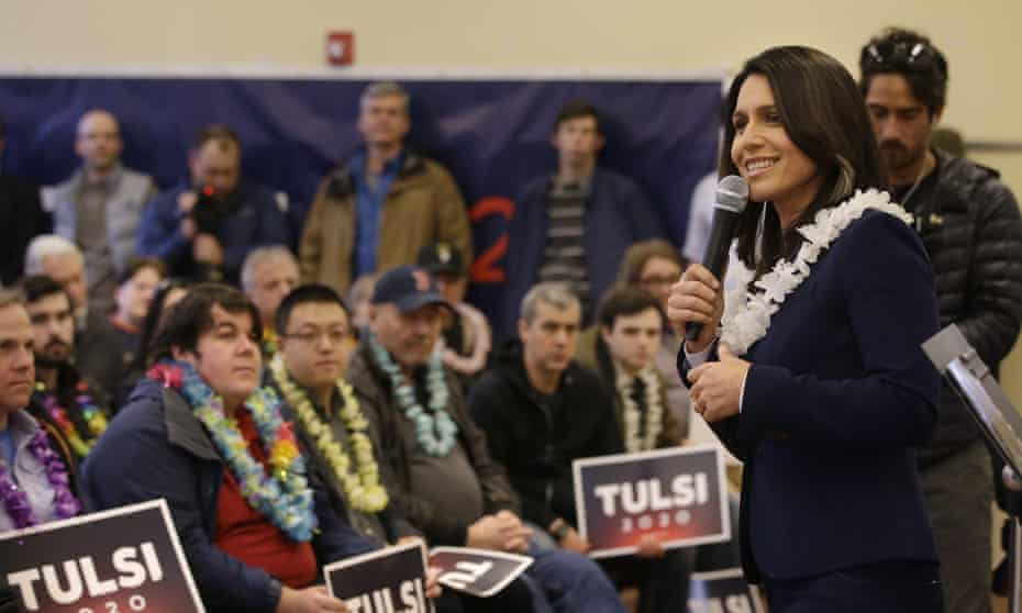 Presidential hopeful Tulsi Gabbard addresses an audience during a meet and greet, 17 February 2019, in North Hampton, New Hampshire.