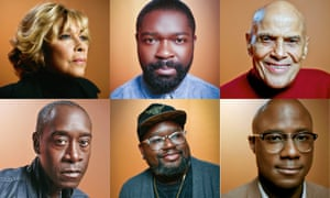 Breaking black: (clockwise from top) Diahann Carroll, David Oyelowo, Harry Belafonte, Barry Jenkins, Lil Rel Howery and Don Cheadle.