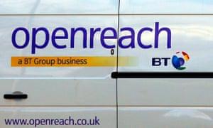 A BT Openreach van