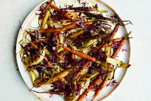 Anna Jones's charred carrot and fennel salad with spiced maple.