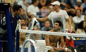John Millman and Novak Djokovic