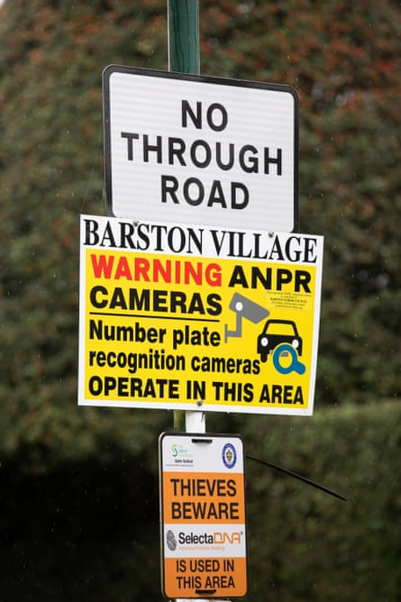Anti-fly-tipping signage in Barston, West Midlands