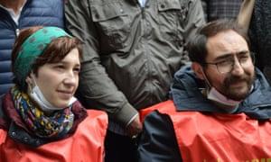 Nuriye Gülmen and Semih Özakça on Sunday