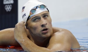 US swimmer Ryan Lochte after the men's 4x200-metre freestyle heat in Rio.