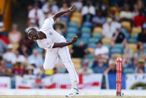 Kemar Roach was named man of the series against England in the Caribbean last year.