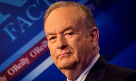 Bill O'Reilly poses on the set of his show The O'Reilly Factor, in New York in 2015.