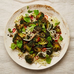 Yotam Ottolenghi's fried broccoli florets and pickled stems.