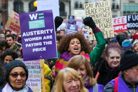 The Women Demand Bread & Roses protest in London, January 2019