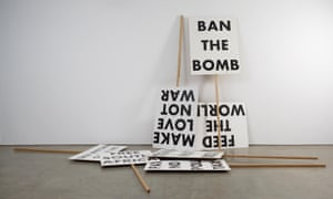 Souvenir Placards, 1993, by Martin Boyce is part of the Revolt and Revolution exhibition at Yorkshire Sculpture Park.
