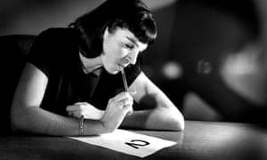 Woman writing her CV (curriculum vitae)