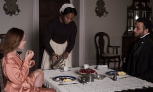 Florence Pugh, Naomi Ackie and Cosmo Jarvis in Lady Macbeth.