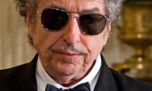 File picture of Bob Dylan, who accepted the Nobel Prize for Literature in Stockholm on Saturday night.