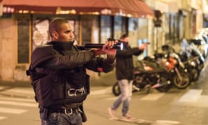 Armed personnel on the streets.