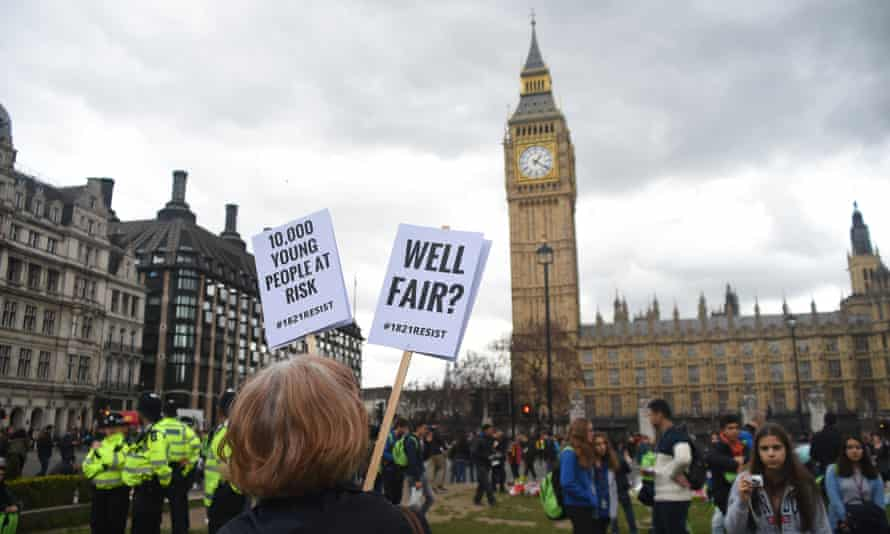 A protest against housing benefit cuts