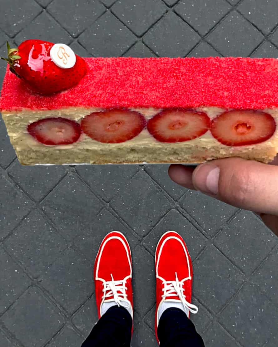 Berry funny: Tal Spiegel's cake, and shoes.