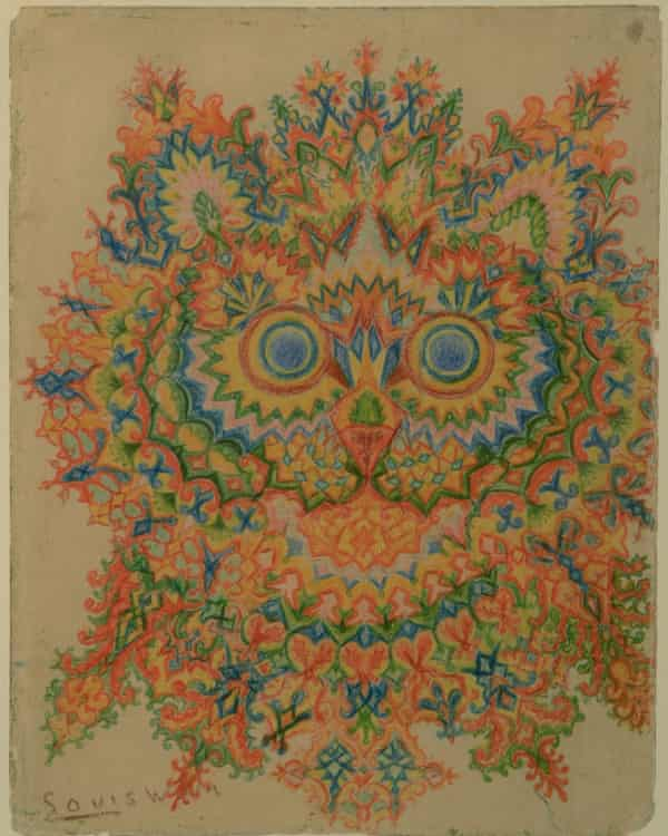 A picture in Wain's Kaleidoscope Cats series of drawings
