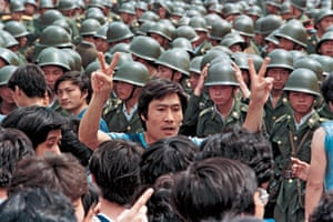 Protesters in Beijing ask soldiers to leave the city