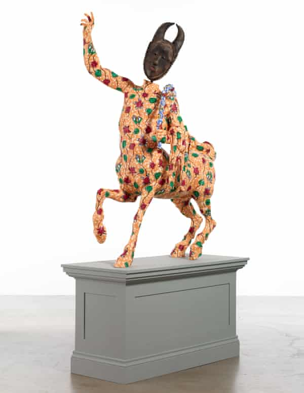 The centaur wore batik … one of Shonibare's Picasso-inspired statues.