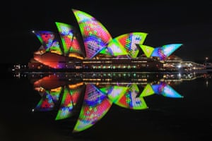 The Sydney Opera House is illuminated as part of this year's Vivid Sydney festival