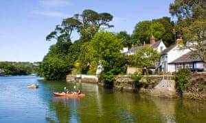 Kayaking at Helford village.