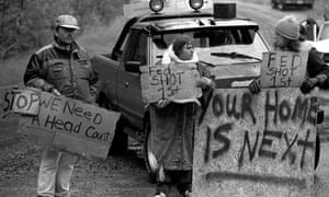 Protesters at Ruby Ridge in 1992