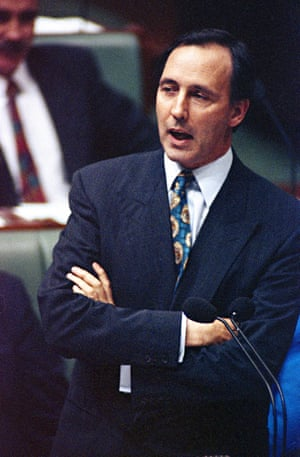 Paul Keating speaks during question time in parliament