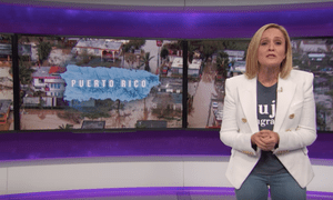 Samantha Bee on Donald Trump's visit: 'The devastated island of Puerto Rico was hit by a category five5 tsunami of self-congratulation.'