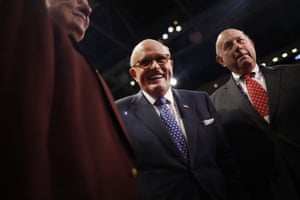Rudy Giuliani boasted of his ties to Donald Trump to gain access to high-ranking prosecutors and officials.