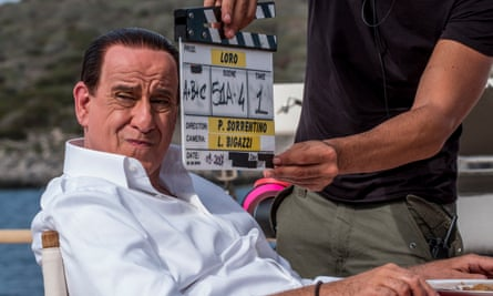 Toni Servillo on the set of Paolo Sorrentino's Loro, which steers clear of politics.