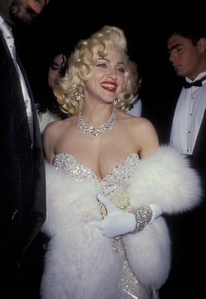 Madonna goes full Marilyn Monroe at the Academy Awards after party, 1991