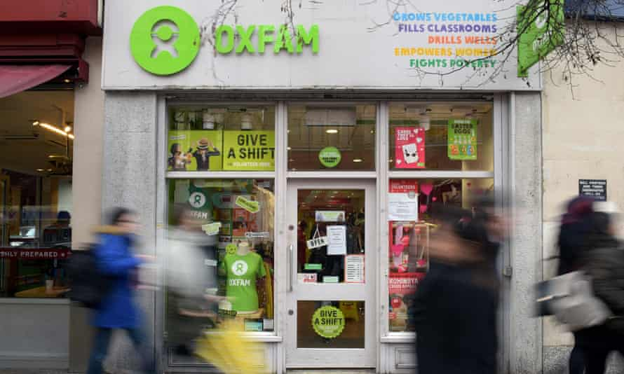 An Oxfam shop in London. Thousands of people have cancelled their direct debits to the charity.