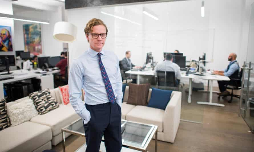 Alexander Nix, the suspended Cambridge Analytica chief executive, in the company's New York office, in 2016, the year he had a meeting with Boris Johnson.
