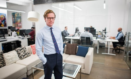 Cambridge Analytica CEO Alexander Nix at the company's office in New York City on 24 October 2016.