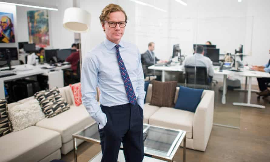 Cambridge Analytica's chief executive, Alexander Nix, at the company's office on 5th Avenue in New York.