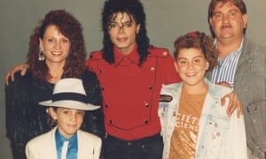 Wade Robson, left, and family with Michael Jackson
