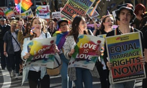 A march in support of same-sex marriage in Sydney