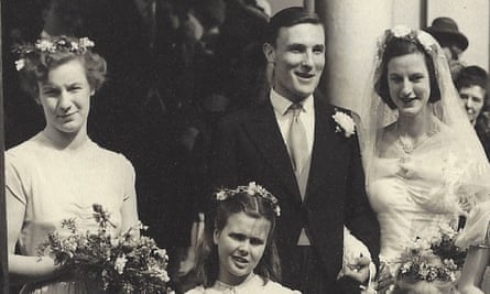 'She saw to it he was never alone with any of us' … right, Patrick Gale's parents Michael and Pippa on their wedding day.