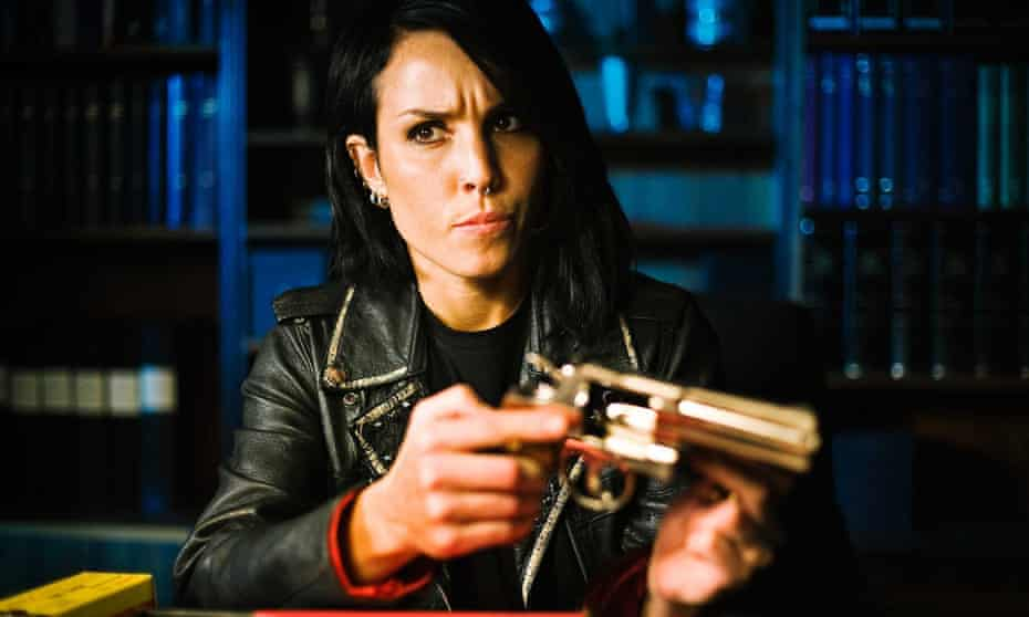 Noomi Rapace as Lisbeth Salander in The Girl Who Played with Fire (2009).