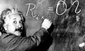 'My wonderful idol' ... Schmidhuber reveres Albert Einstein.