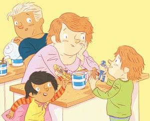 An illustration by Tom Jellett for the children's picture book Wrestle! by Charlotte Mars, Maya Newell and Gus Skattebol-James
