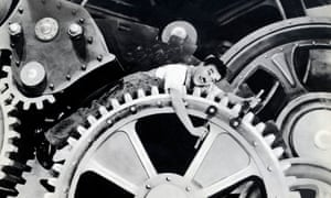 The absurd comedy of a mechanised world … Charlie Chaplin in Modern Times (1936).