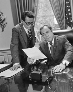 Martin Sheen as John Dean and Rip Torn as Richard Nixon in the CBS mini-series about Dean's career.